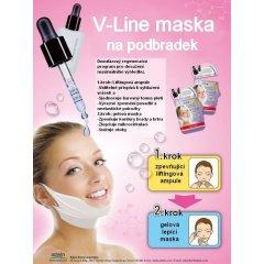 Purederm Dvoufázová zpevňující liftingová maska na podbradek, krémová maska + hydrogelová náplast na krk, 1ks