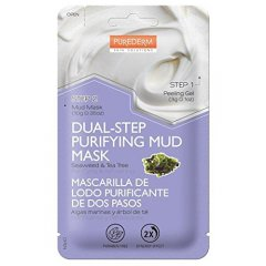Purederm Dvoufázová čisticí bahenní maska s mořskými řasami a tea tree olejem, 13 g