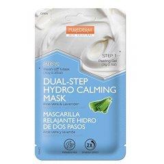 Purederm Dvoufázová hydratační zklidňující maska s Aloe Vera a levandulí, 13 g