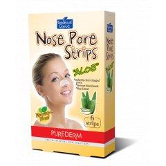 Purederm Čisticí pásky na nos Aloe Vera, 6 ks