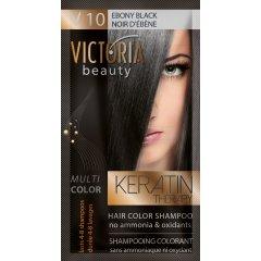 Victoria Beauty Keratin Therapy Tónovací šampón na vlasy V 10, Ebony black, 4-8 umytí