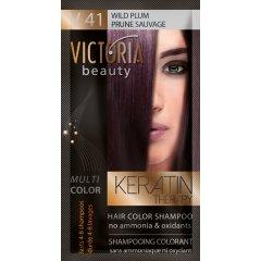 Victoria Beauty Keratin Therapy Tónovací šampón na vlasy V 41, Wild plum, 4-8 umytí