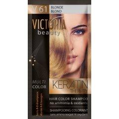 Victoria Beauty Keratin Therapy Tónovací šampón na vlasy V 61, Blonde, 4-8 umytí
