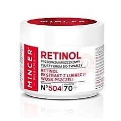 Mincer RETINOL 70+ Protivráskový mastný krém s retinolem, 50 ml