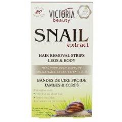 Victoria Beauty Snail Extract Depilační pásky na tělo se šnečím extraktem, 22 ks