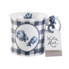 Creative Tops Vintage indigo Porcelánový hrnek Gingham Floral, 400 ml