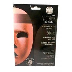 Victoria Beauty Aktivní kolagenová hydrogelová 3D maska s červeným vínem